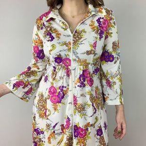 Vintage | Floral Caftan Long Maxi House Dress S